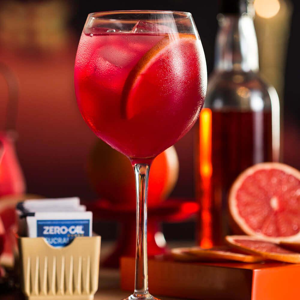 Caipirinha-Vodka, Aperol, Suco de Grapefruit e Acqua Mix